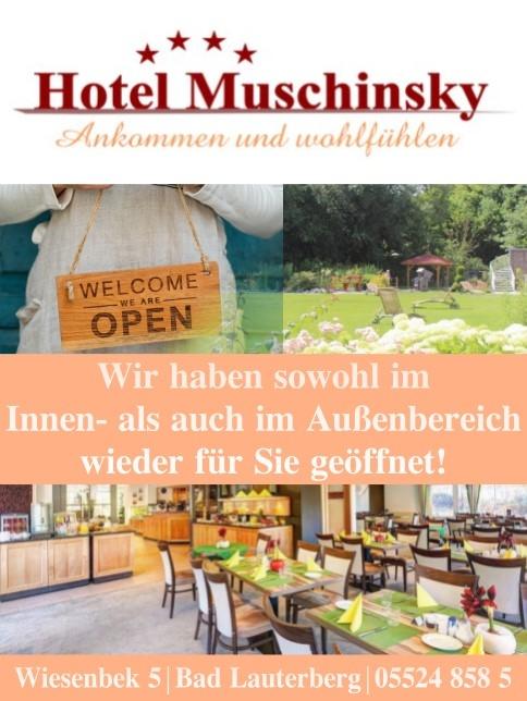 Hotel Muschinsky - wieder geöffnet!