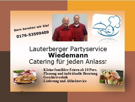 Lauterberger Partyservice Wiedemann