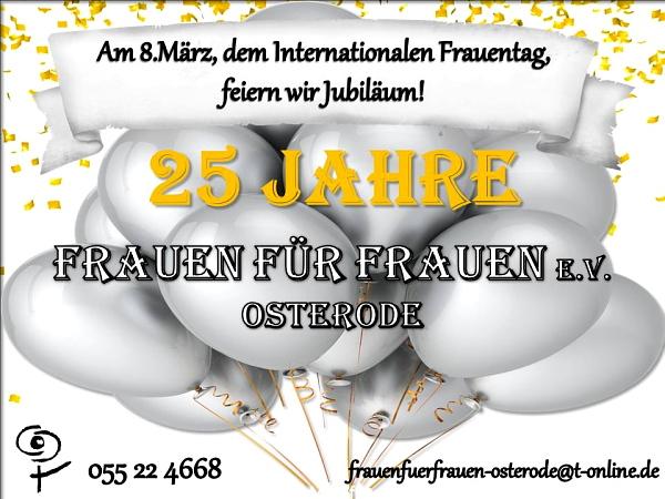 25 Jahre Frauen für Frauen Osterode e.V.