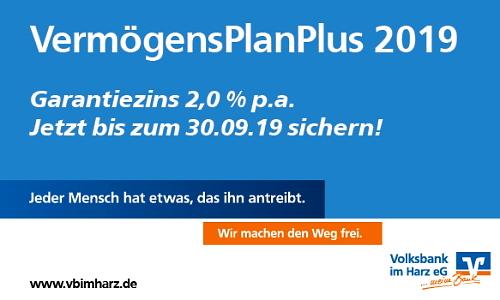 VermögensPlanPlus 2019 - Volksbank im Harz eG
