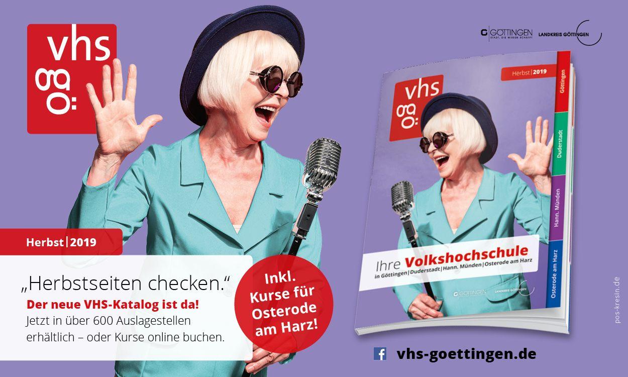 Das neue Herbstprogramm ist da! Volkshochschule Göttingen-Osterode gGmbH