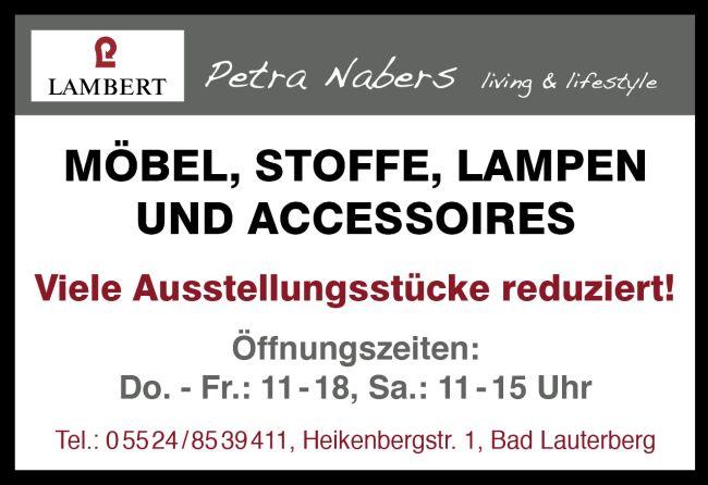 Petra Nabers living & lifestyle: Viele Ausstellungsstücke reduziert!