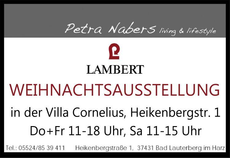 Petra Nabers living & lifestyle Weihnachtsausstellung in der Villa Cornelius