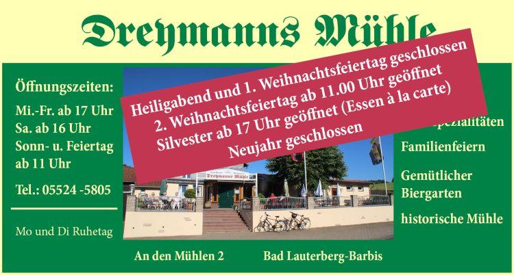 Gasthaus Dreymanns Mühle Barbis