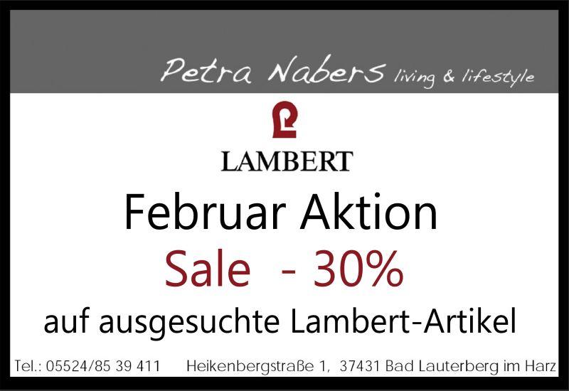 Februar Aktion: Sale -30% auf ausgesuchte Lambert-Artikel