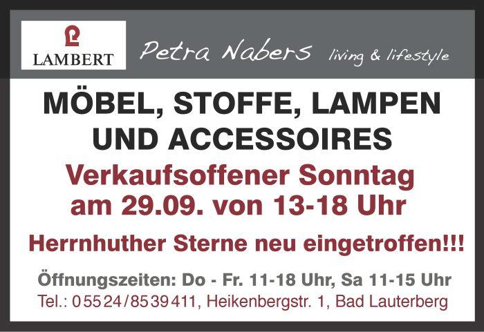 Petra Nabers living & lifestyle: Verkaufsoffener Sonntag am 29.09.