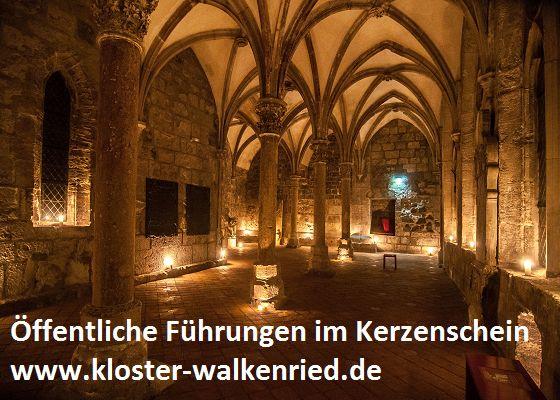 Kerzenscheinführung im ZisterzienserMuseum Kloster Walkenried
