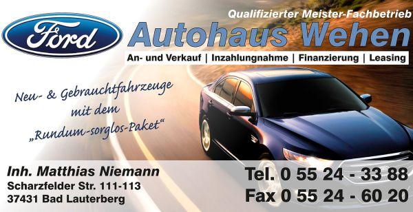 Ford Autohaus Wehen - Qualifizierter Meister-Fachbetrieb