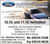 Weiterlesen: Großes Herbstfest im Autohaus Wehen