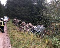 Weiterlesen: Verunfallter Holz-LKW oberhalb Sieber
