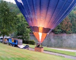 6.32 Uhr: Der Ballon steht.