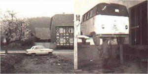 Links: das erste Ausstellungsstück, rechts die erste Reparatur