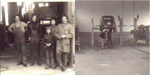 Die Anfänge 1968 in der Pöhlder Str. 4a: Arbeiten an der Hebebühne