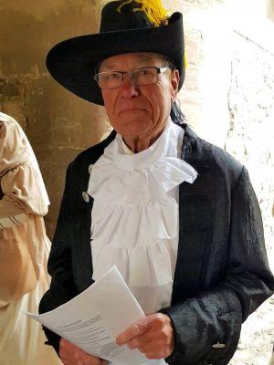 Wilfried Dittmann als Christian Ludwig, der im Schloss den Sieberflügel bauen ließ.