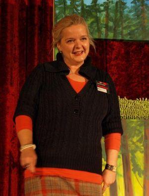 Susanne Kinne bei der Begrüßung.