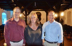 Die drei aus dem Rittersaal: Gunnar Kunz (links), Christine Brand und Marc Elsberg.