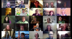 Die Chorproben der letzten Monate fanden virtuell statt