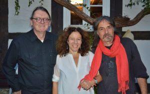 Übernahmen den Start (von links): Arndt Schulz, Ulrike Gerold und Wolfram Hänel.
