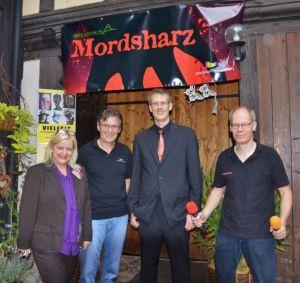 Das Mordsharz-Team (von links): Susanne Kinne, Roland Lange, Christoph Lampert und Andreas Sack.
