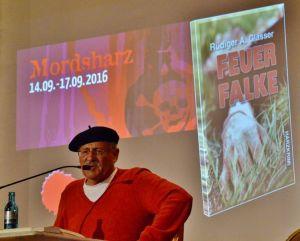 Lokalmatador Rüdiger Glässer präsentierte seinen neuen Harzkrimi.
