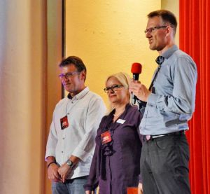 Der Kern des Mordsharz-Teams (von links): Roland Lange, Susanne Kinne und Christoph Lampert.