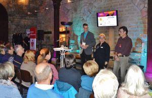 Christoph Lampert, Susanne Kinne und Roland Lange freuten sich über ausverkaufte Lesungen.