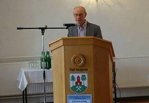Hans-Joachim Wildner rührte das Publikum mit seinem Beitrag.
