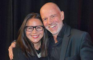 Der erfolgreiche Abend wurde auch von einem gut aufgelegten Duo beendet: Fiona Cummins und Dietmar Wunder.
