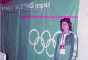 ...bei den Olympischen Spielen 1984 in Los Angeles gewann sie Gold...