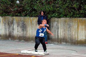 Publikumsliebling und Paralympicsstar Niko Kappel begeisterte mit 13,58 Meter im Kugelstoß.