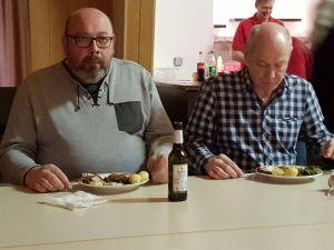 Das Essen schmeckte auch den Lonauer Genossen.