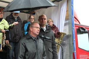 Die Bürgermeister: vorn Herr Viehweger; hinten H. Pasenow