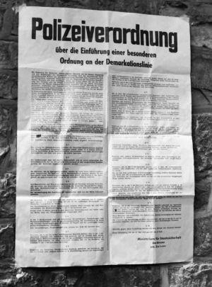 Die damalige Polizeiverordnung (Foto: Grenzlandmuseum Eichsfeld)