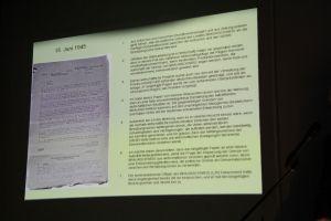 Original-Dokument und Übersetzung