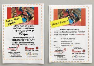 Dank mehrsprachiger Flyer werden auch Eltern angesprochen, die Deutsch noch nicht sicher beherrschen