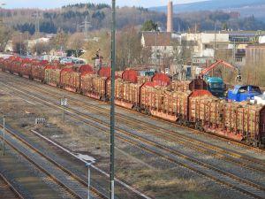 5000 Güterwaggons schickt Holz-Reimann Jahr für Jahr klimafreundlich zu den Abnehmern in Europa.