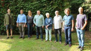 Von rechts: Dirk Markert und Holger Seidel (Erlebnistage); das Ehepaar Bartmann; Dirk Pacht, Sybille und Lothar Sause, Hans Henning