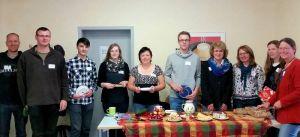 """Teilnehmer des Workshops """"Klima und Ernährung"""" mit Referentin Ines Fehrmann (rechts)."""