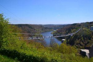 Die Hängebrücke an der Rappbodetalsperre ist ein Besuchermagnet. Foto: A. Lehmberg, Harzer Tourismusverband