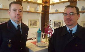 von links: André Hennigs und Martin Pinkert von der Ortsfeuerwehr Osterode