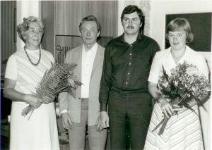1979 übergaben Wolf Ließmann und seine Frau (li.) den Betrieb an Ulrich und Marlies Eckstein (re.)