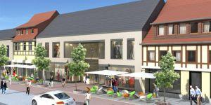 Vor dem neuen Haus sollen etwa 50 Außenplätze für Gastronomie entstehen.