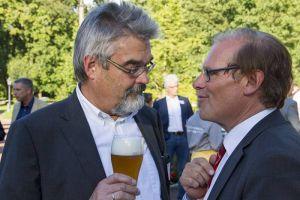 Wirtschaftförderer: Geschäftsführer Detlev Barth (links) und Aufsichtsratsvorsitzender Bernhard Reuter von der Wirtschaftsförderung Region Göttingen (WRG).