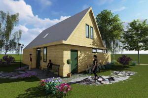 Erste Entwürfe der Häuser: Sie sollen ökologisch auf Holzbasis, modern und…