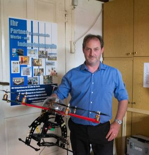 Seit 2012 ist Gunther Lindenberg auch mit seinem Fotokopter für Luftaufnahmen unterwegs