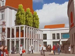 Mit Hilfe eines Investors wurde das Kaufhof-Gebäude aufgestockt und darauf Wohnungen gebaut.