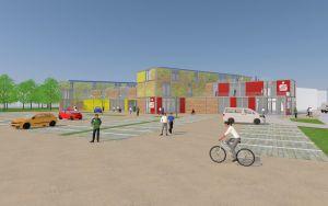 ...in einem größeren Komplex sollen ein Supermarkt, Gewerbeflächen, eine neue Sparkasse und Wohnraum entstehen.