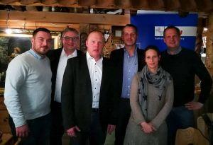 Funktionsträger (von links): Vincent Rudolph, Roland Stahl, Christian Schäfer, Rolf Lange, Nadine Fröhlich und Fritz Güntzler.