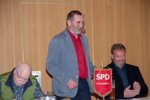 Jahreshauptversammlung der SPD Bad Lauterberg. Der alte und neue Vorsitzende begrüßt die Mitglieder.