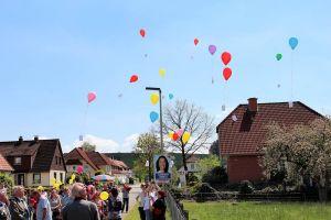 Luftballons wurden auf die Reise geschickt...